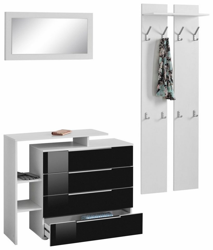 garderobe weiss hochglanz preisvergleiche erfahrungsberichte und kauf bei nextag. Black Bedroom Furniture Sets. Home Design Ideas