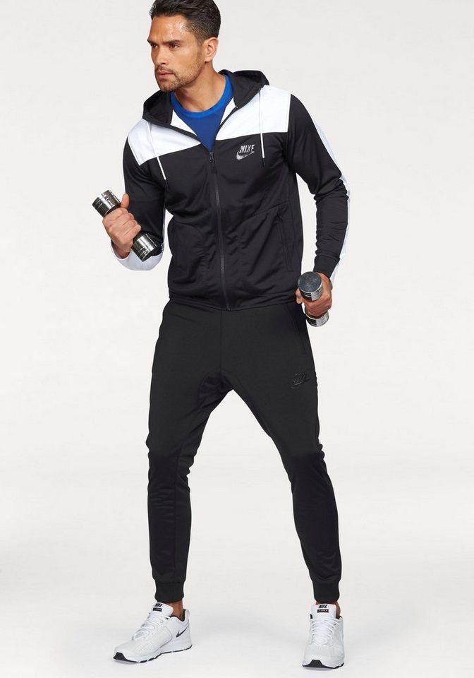 Nike Trainingsanzug »NSW AV15 TRACKSUIT POLYKNIT« in schwarz-weiß