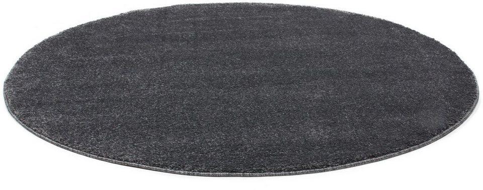 Teppich Rund, Lalee, »Valencia900«, gewebt in Silber