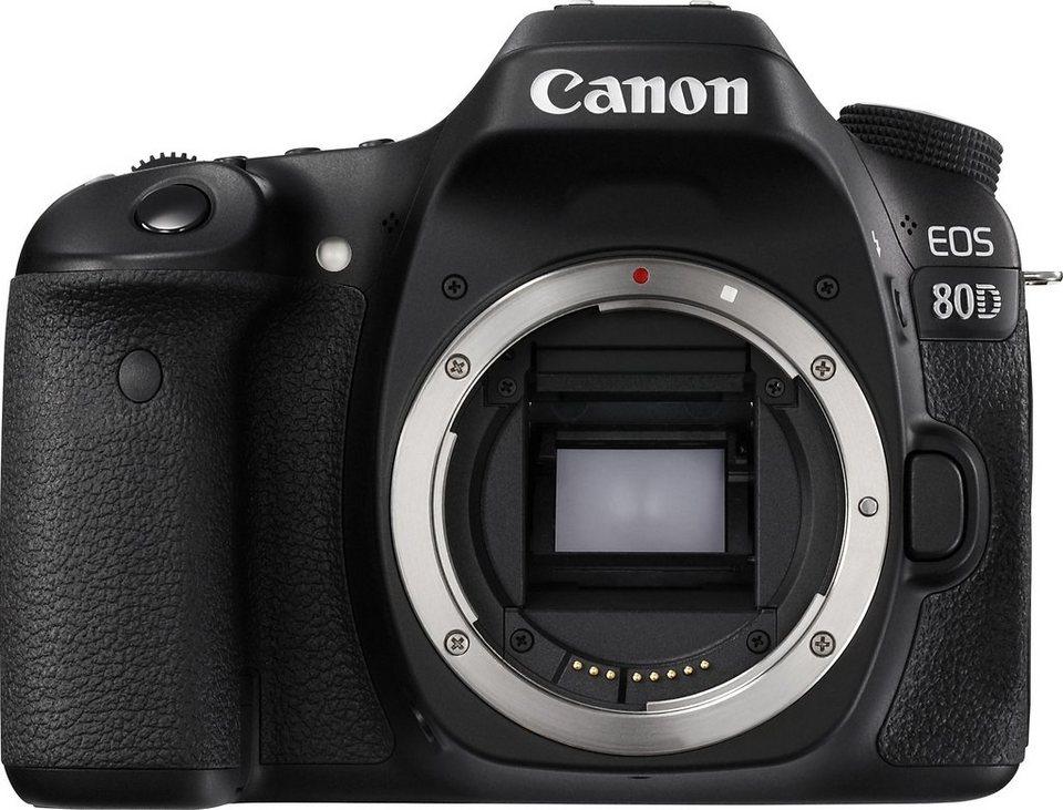 Canon EOS 80D Body Spiegelreflex Kamera, 24,2 Megapixel, 7,7 cm (3 Zoll) Display in schwarz