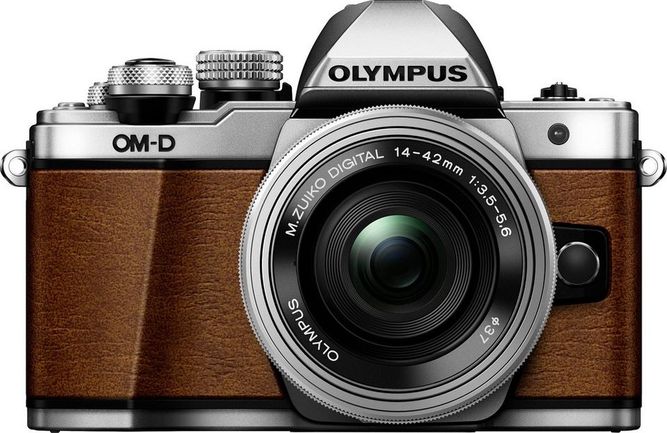 Olympus OM-D E-M10 Mark II Pancake EZ-M1442 limited edition System Kamera in braun