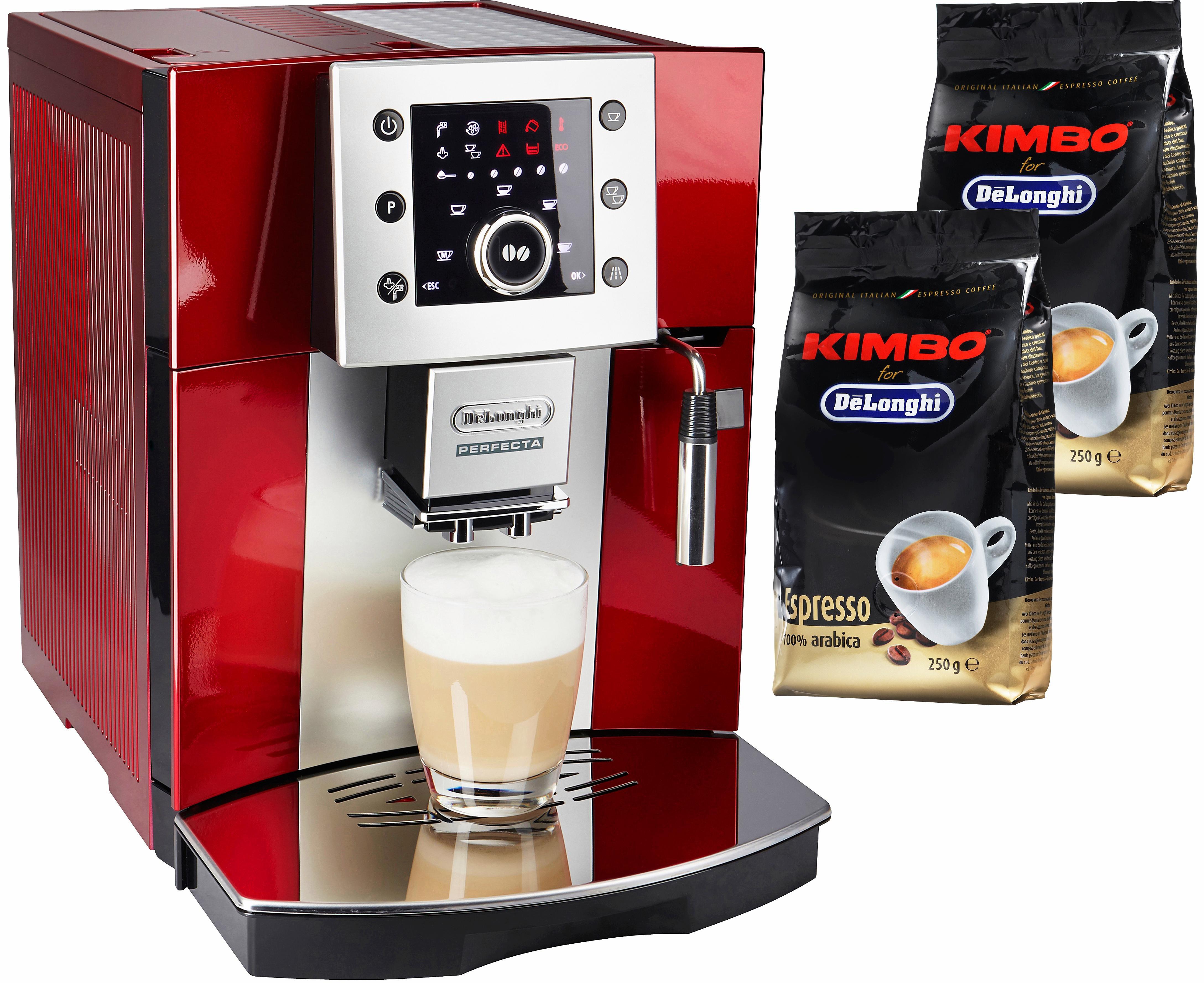 Kaffeevollautomat Perfecta ESAM 5400.R, leises Kegelmahlwerk