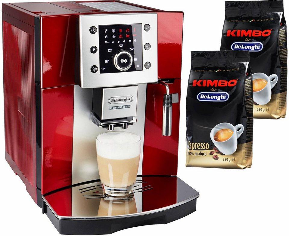 De'Longhi Kaffeevollautomat »Perfecta ESAM 5400« in rot-metallic