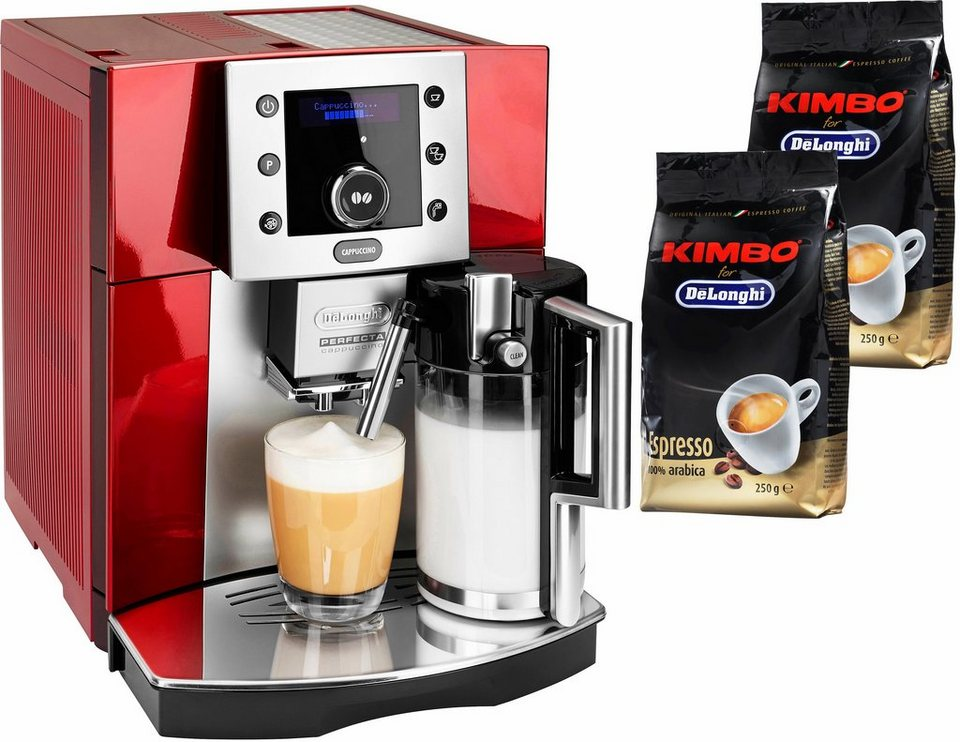 De'Longhi Kaffeevollautomat »Perfecta ESAM 5550« in rot