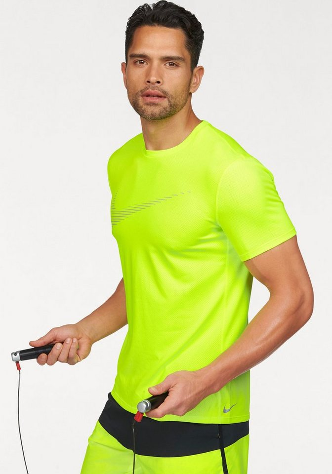 Nike Laufshirt »DRY CONTOUR TOP SS GPX« in neongelb