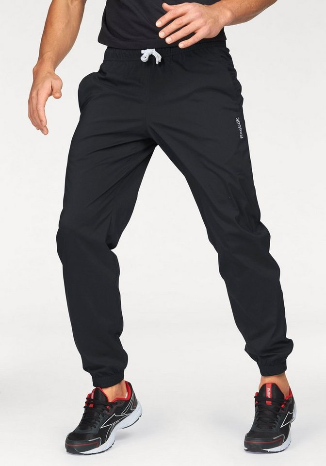 Reebok Sporthose »Elements Woven Cuffed Pant« in schwarz
