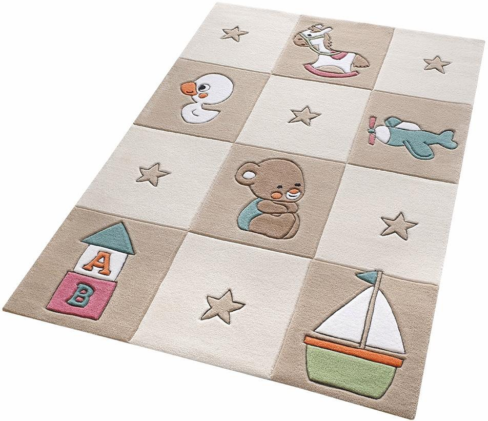 Kinder-Teppich, Smart Kids, »Newborn«, handgetuftet in beige