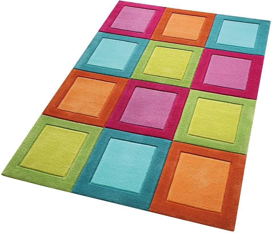 Kinder-Teppich, Smart Kids, »Smart Button«, handgetuftet in bunt