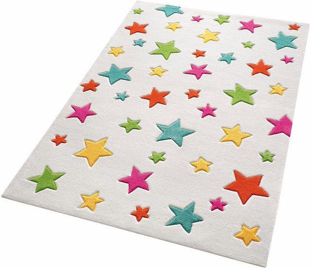 Kinderteppich »Simple Stars«, SMART KIDS, rechteckig, Höhe 10 mm, bunte Sterne mit Konturenschnitt | Kinderzimmer > Textilien für Kinder > Kinderteppiche | Weiß | Polyacryl | SMART KIDS