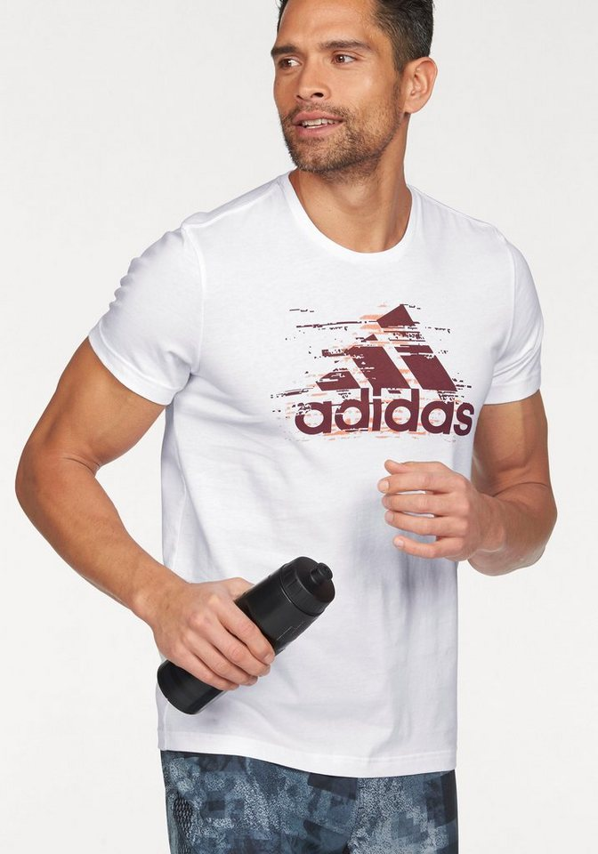 adidas Performance T-Shirt »ESSENTIALS LOGO TEE« in weiß