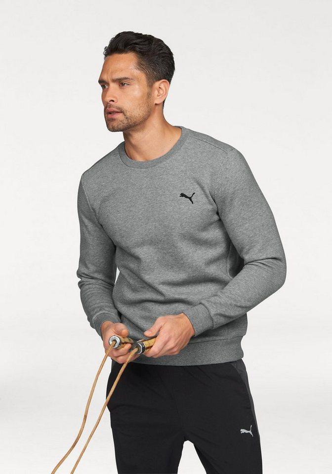 PUMA Sweatshirt »ESS Crew Sweat« in grau