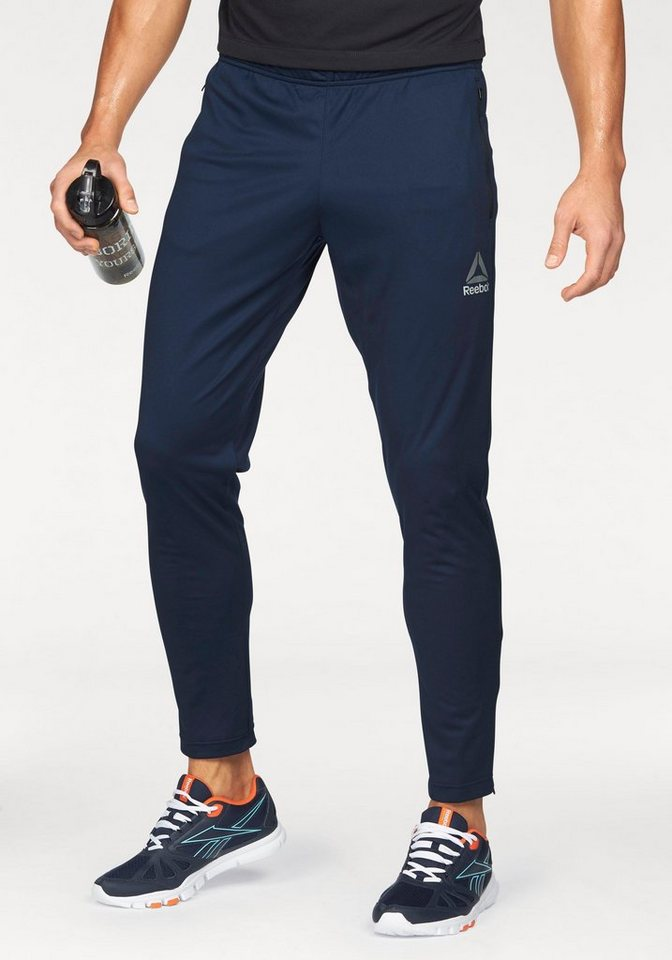 Reebok Sporthose »Workout Ready Stacked Logo Trackster Pant« in marine