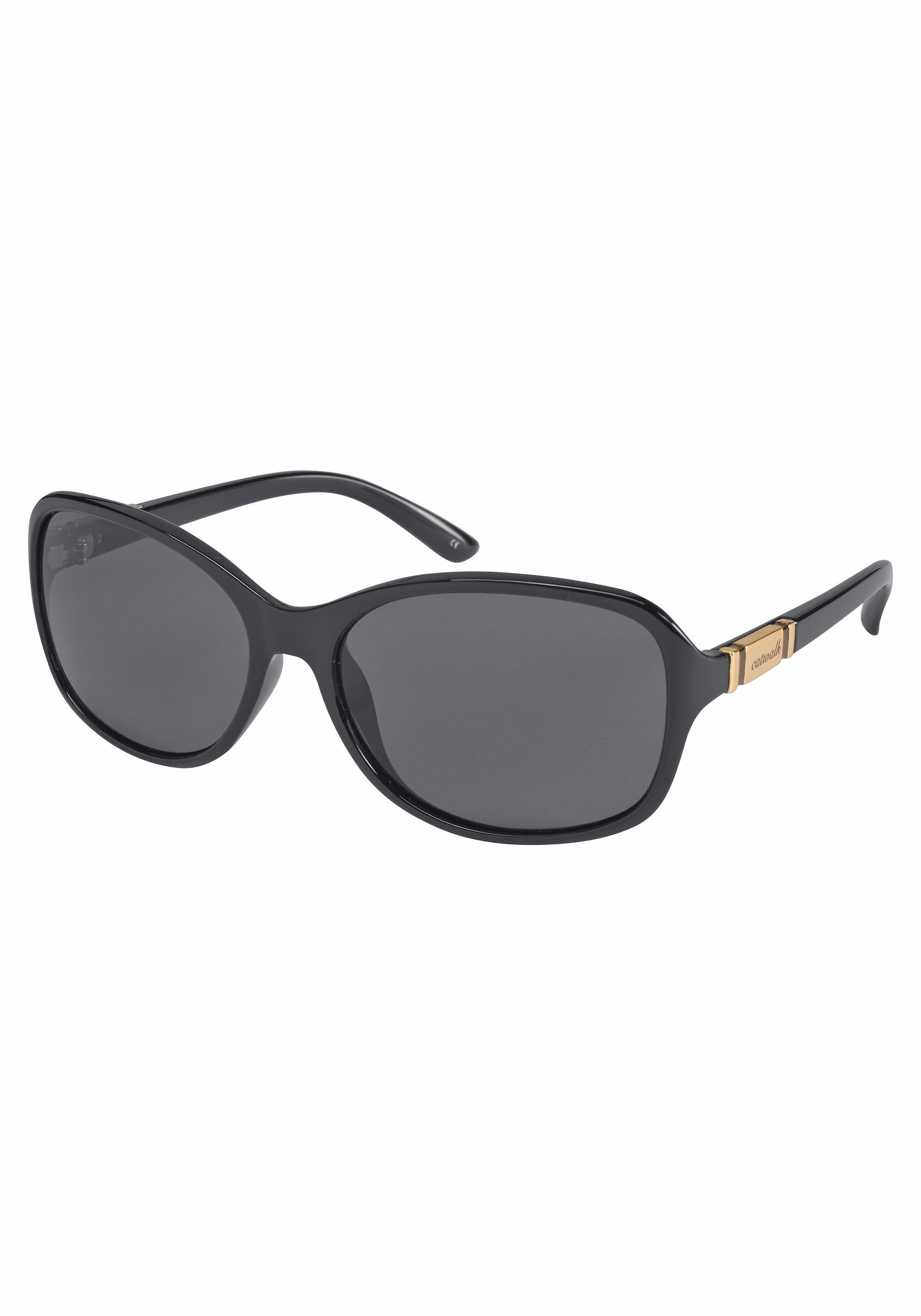 catwalk Eyewear Sonnenbrille mit glänzender Applikation auf dem Bügel