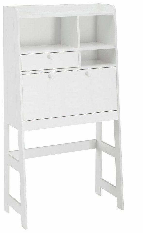 Step Sekretär in weiß/weiß