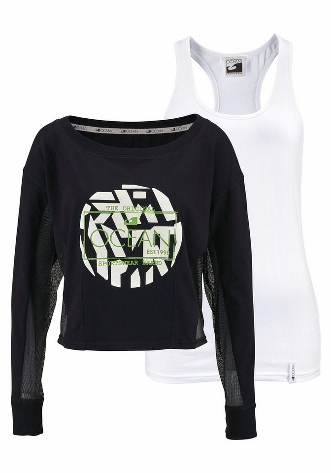 Ocean Sportswear T-Shirt in schwarz+weiß
