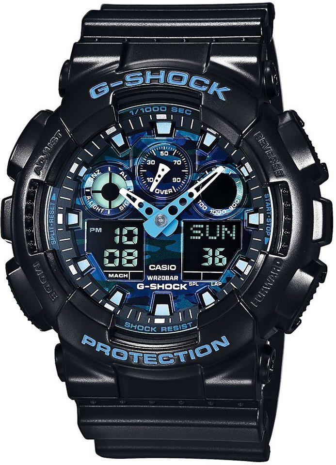 Casio G-Shock Chronograph »GA-100CB-1AER« in schwarz