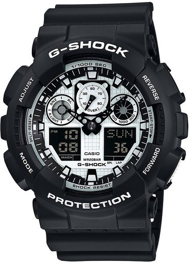 CASIO G-SHOCK Chronograph »GA-100BW-1AER«