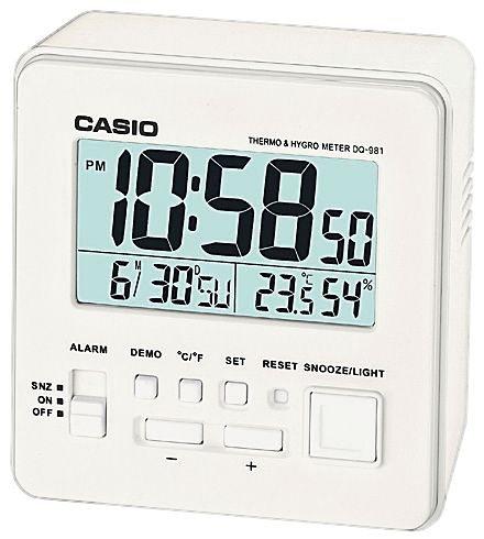 Casio Wecker, »DQ-981-7ER« in weiß