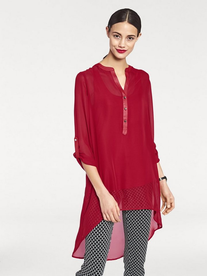 Longbluse in rot