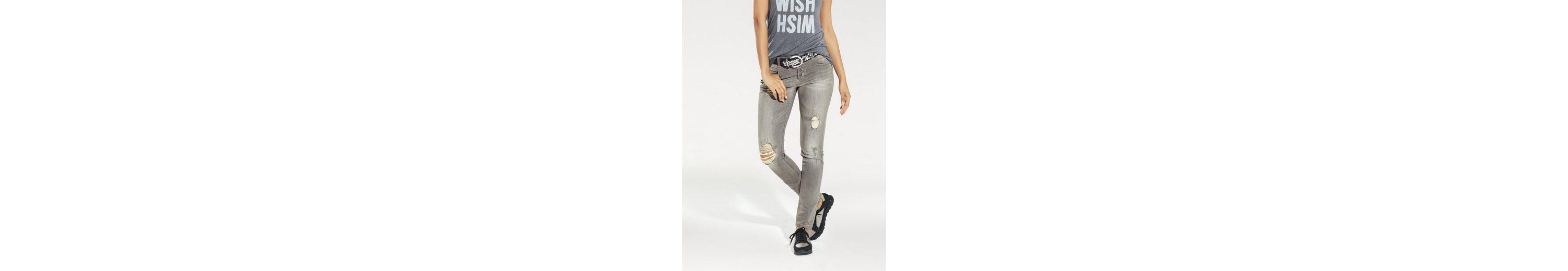 B.C. BEST CONNECTIONS by Heine Skinny-Jeans im Used-Look Liefern Online gytM24yA6