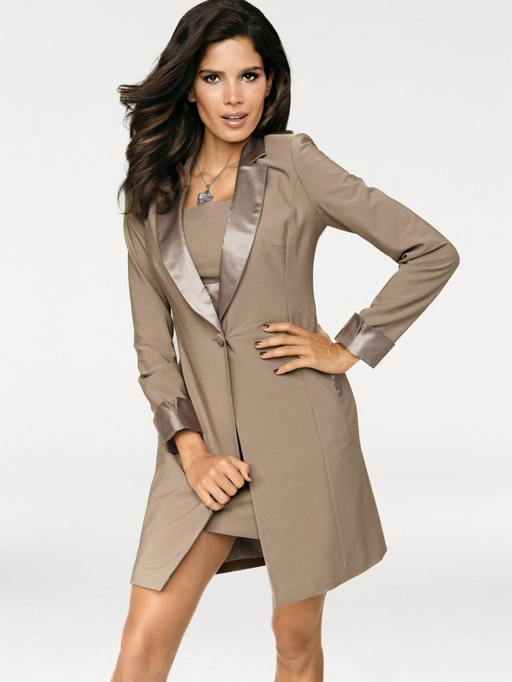 Longblazer in taupe