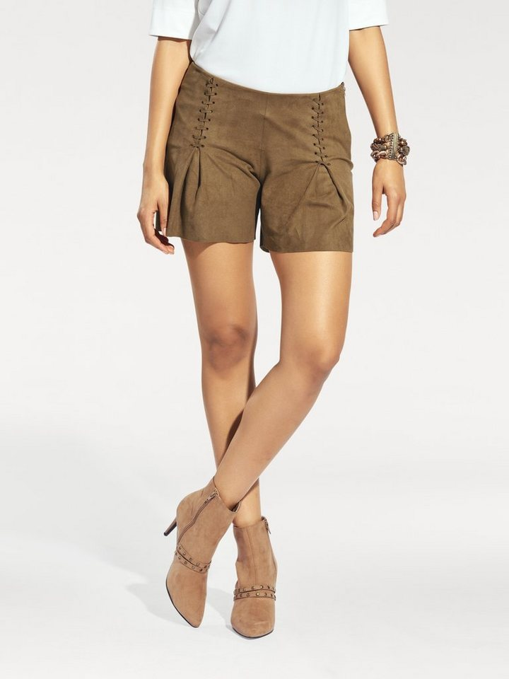 Shorts in cognac