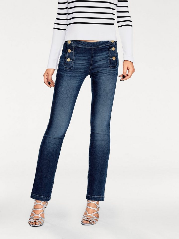 B.C. BEST CONNECTIONS by Heine Flared-Jeans in Bootcut-Form in blue denim