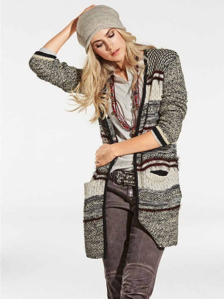B.C. BEST CONNECTIONS by Heine Cardigan in bordeaux