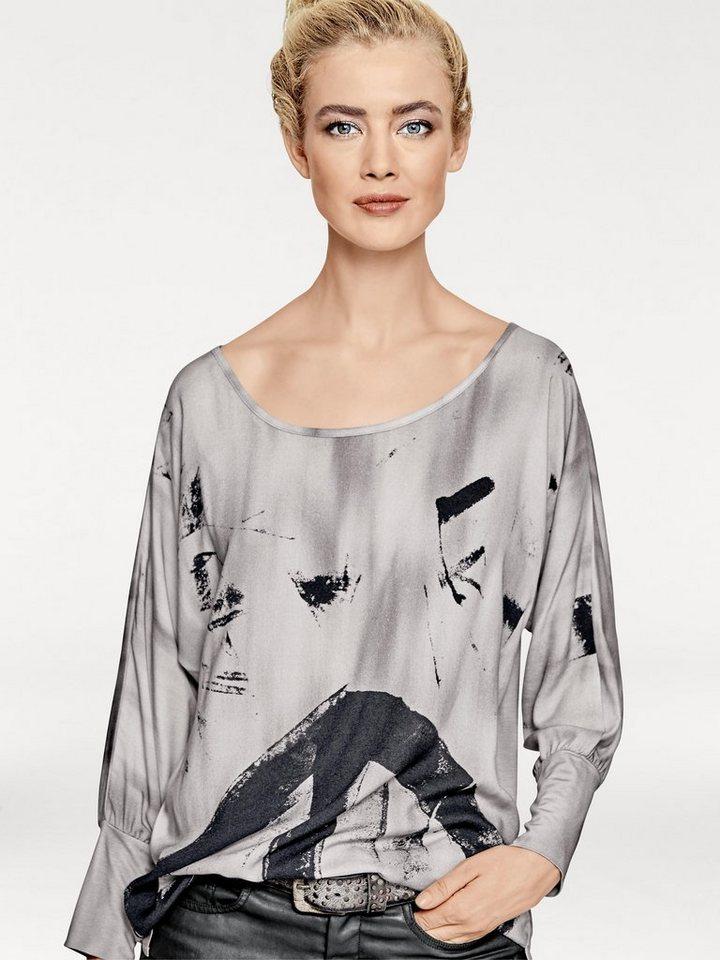 Shirtbluse in grau