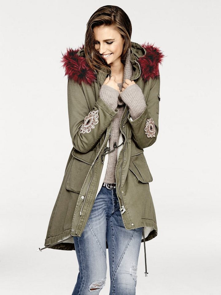 B.C. BEST CONNECTIONS by Heine Parka in khaki