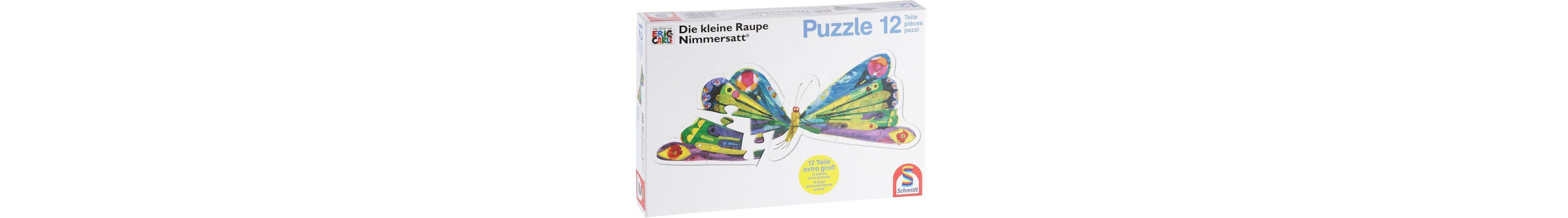 Schmidt Spiele Puzzle 12 Teile, »Die kleine Raupe Nimmersatt®«