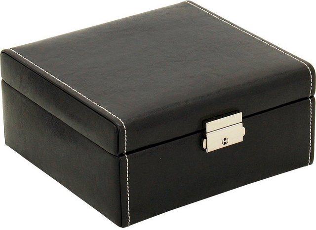 FRIEDRICH23 Uhrenkasten »Bond« abschließbar, für 6 Uhren | Uhren > Uhrenboxen | Schwarz | Friedrich23