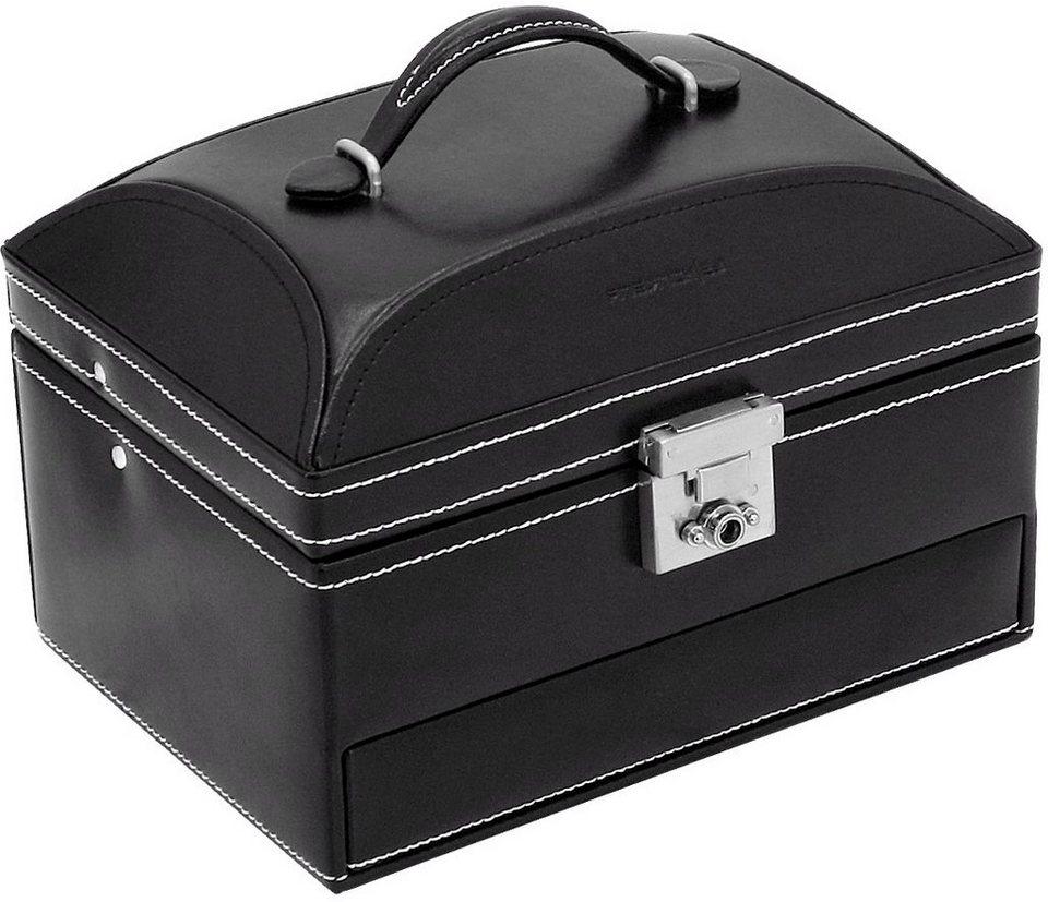 FRIEDRICH23 Schmuckkasten »London« aus Leder in schwarz
