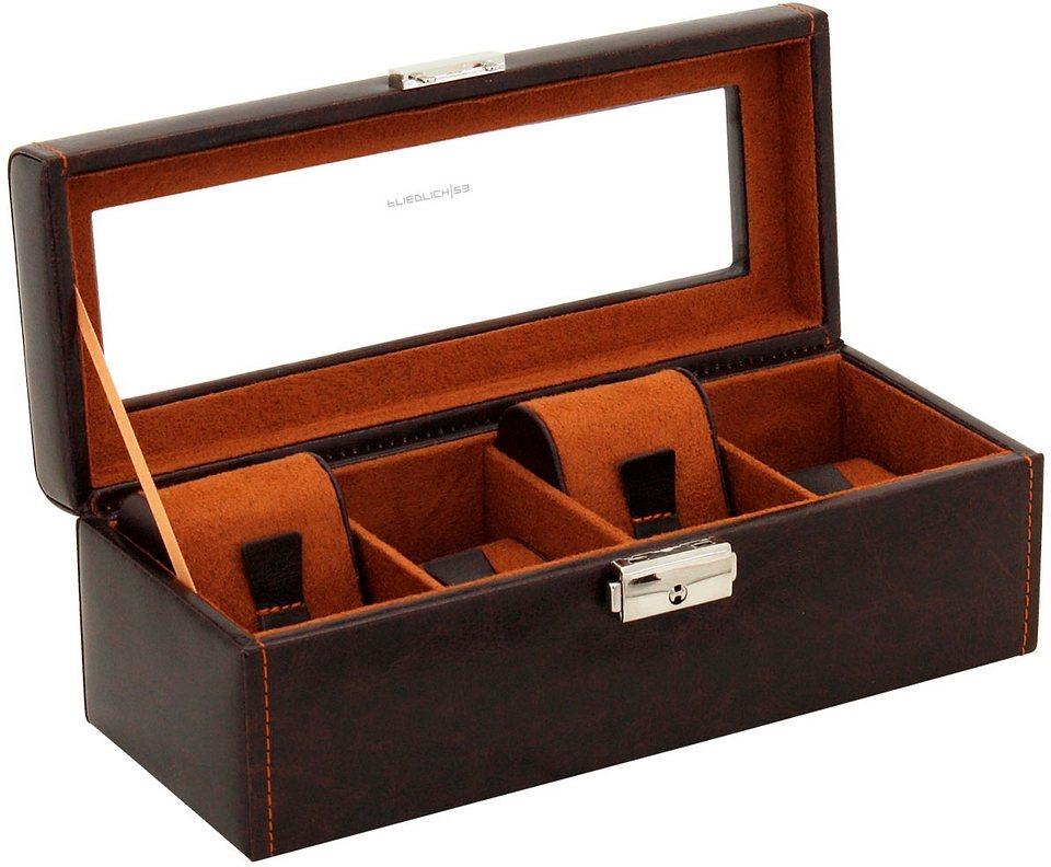 Friedrich23 Uhrenkasten »Bond, 20086-3«   Uhren > Uhrenboxen   Braun   Friedrich23