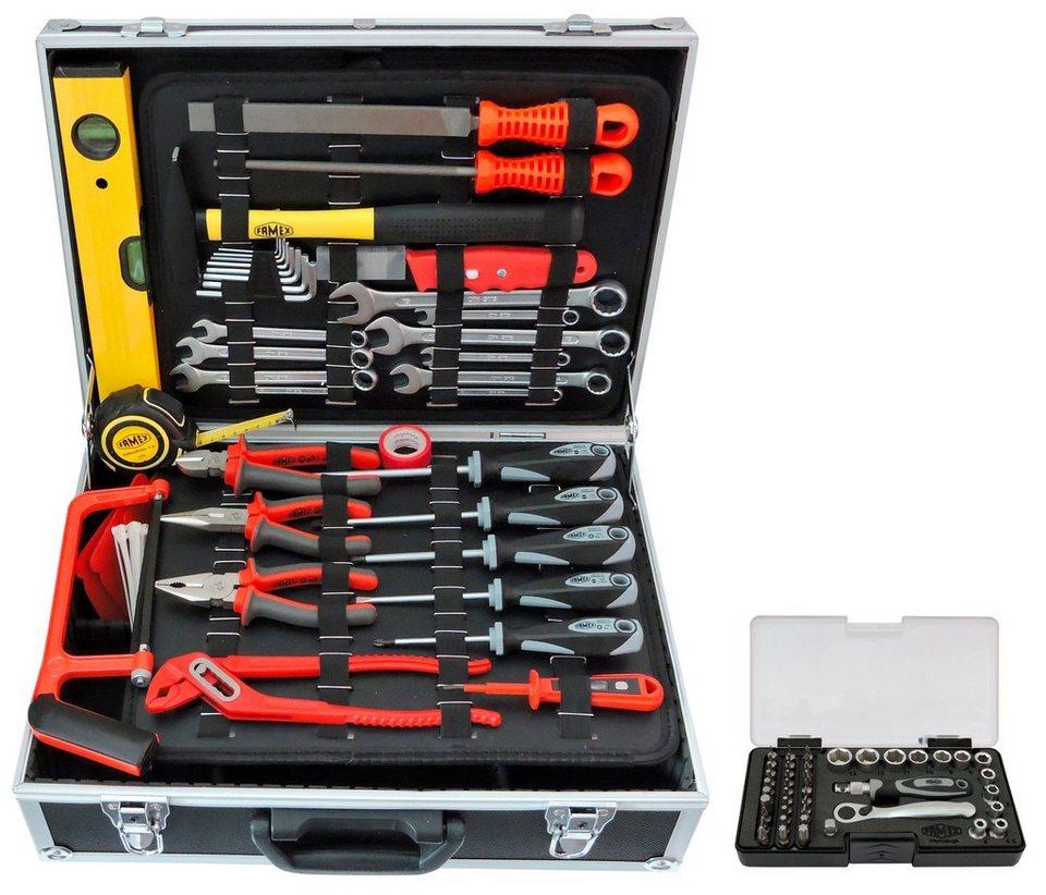 Sparset: Werkzeugkoffer »754-50« inkl. Steckschlüsselsatz in schwarz