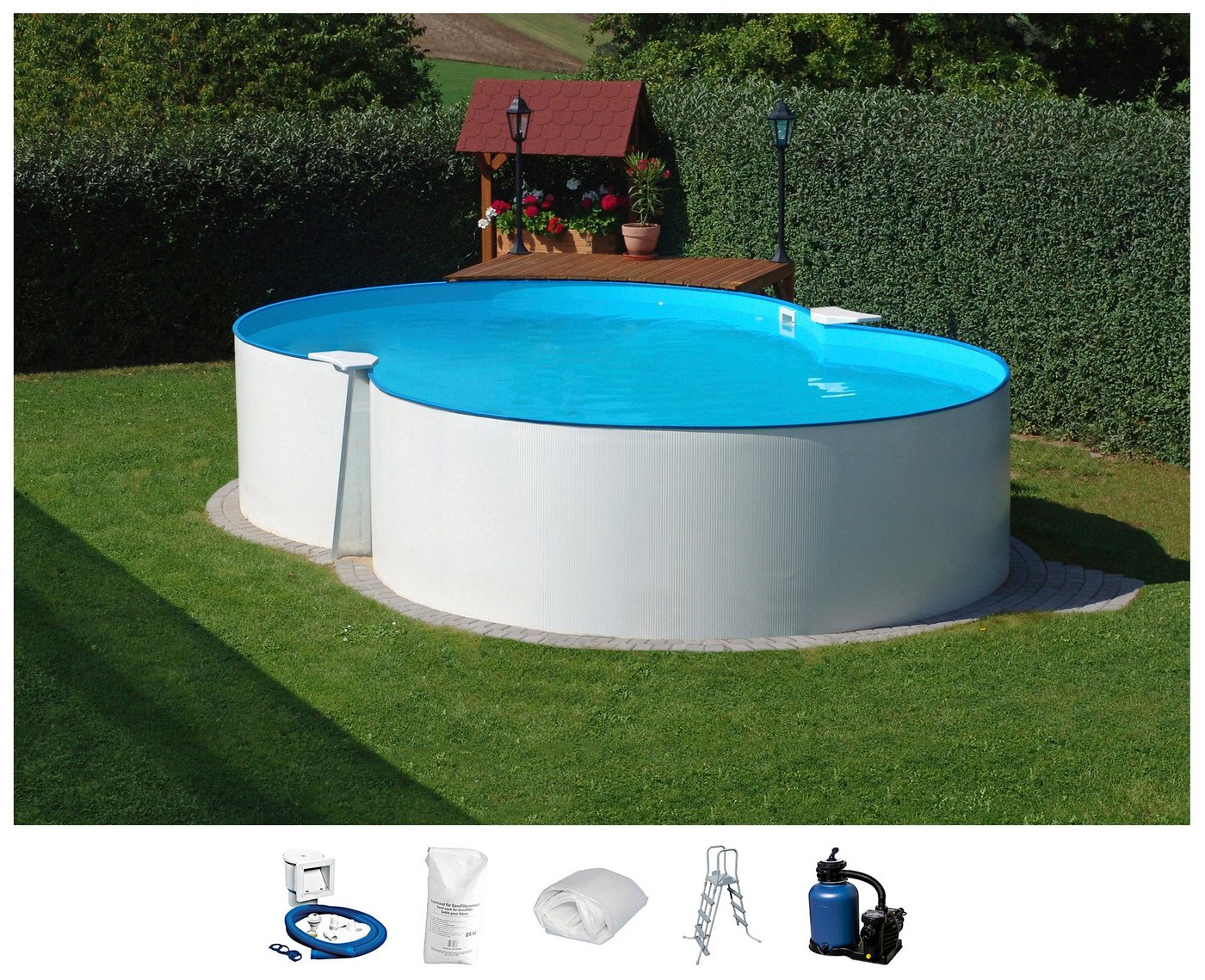 Clear Pool CLEAR POOL Komplett-Set: Achtformpool , 6-tlg. in versch. Größen