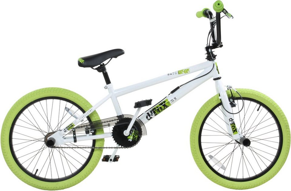 DeTox BMX, 20 Zoll, weiß/grün, »DeTox Freestyle« in weiß/grün