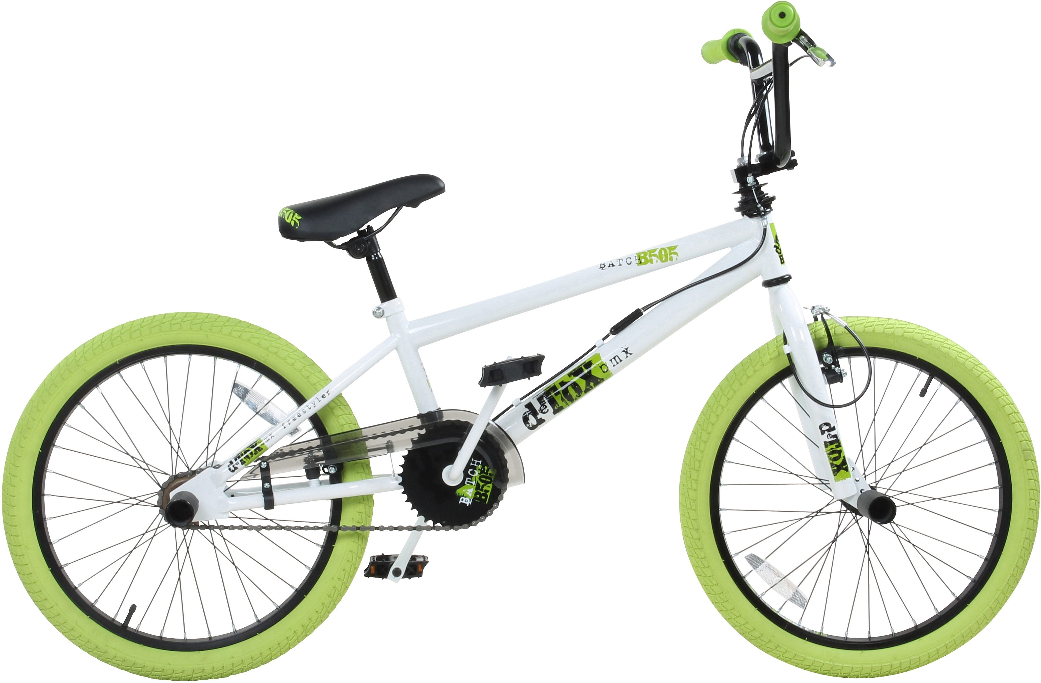 DeTox BMX, 20 Zoll, weiß/grün, »DeTox Freestyle«