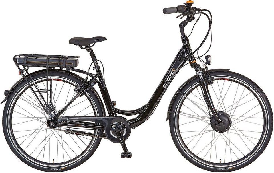 Prophete Damen Alu-City E-Bike, inkl. Smartphone, 28 Zoll, 7 Gg Shimano Nexus, »Navigator 6.01« in glänzend