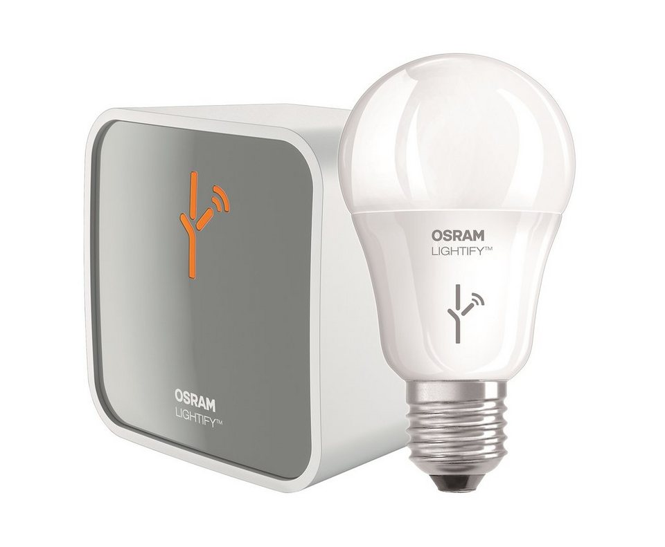 Osram Lightify Smart Home Starter Set »1xGateway + 1xCLA60 RGBW« in weiss-grau