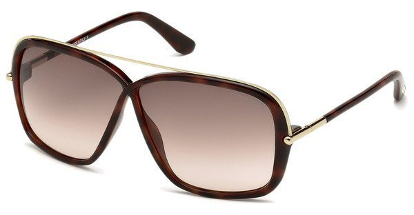Tom Ford Damen Sonnenbrille »Brenda FT0455« in 52F - braun/braun