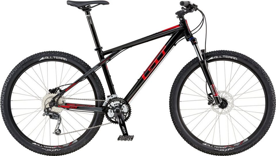 GT Mountainbike, 27,5 Zoll, 27 Gang Shimano Kettenschaltung, schwarz, Herren, »Avalanche Comp« in schwarz