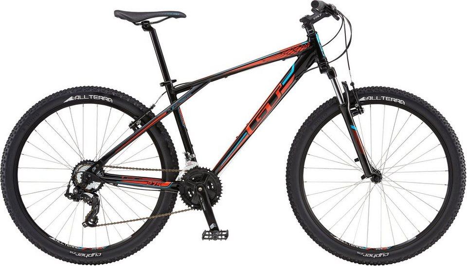 GT Mountainbike, 27,5 Zoll, 21 Gang Shimano Kettenschaltung, schwarz, Herren, »Agressor Sport« in schwarz/rot