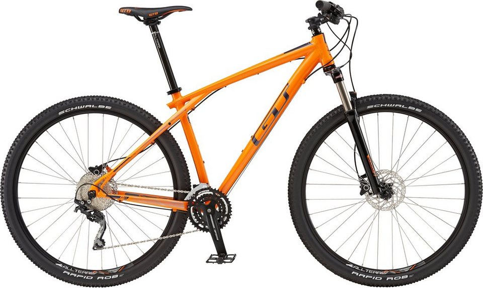 gt mountainbike 29 zoll 30 gang shimano kettenschaltung orange herren karakoram elite. Black Bedroom Furniture Sets. Home Design Ideas