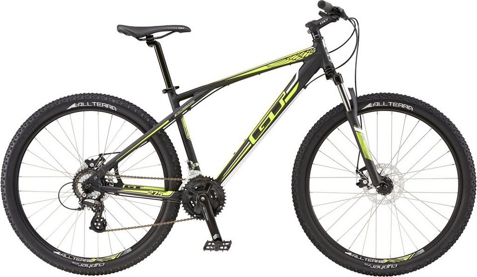 GT Mountainbike, 27,5 Zoll, 21 Gang Shimano Kettenschaltung, schwarz, Herren, »Agressor Comp« in schwarz/gelb