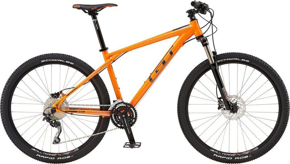 GT Mountainbike, 27,5 Zoll, 30 Gang Shimano Kettenschaltung, orange, Herren, »Avalanche Elite« in orange
