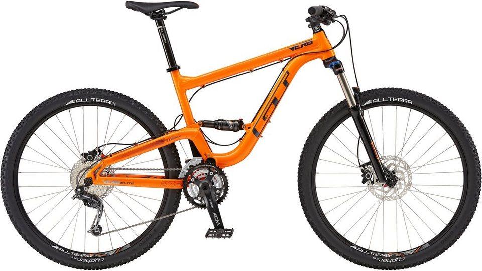 GT Fully-Mountainbike, 27,5 Zoll, 18 Gang Shimano Kettenschaltung, orange, Herren, »Verb Elite« in orange