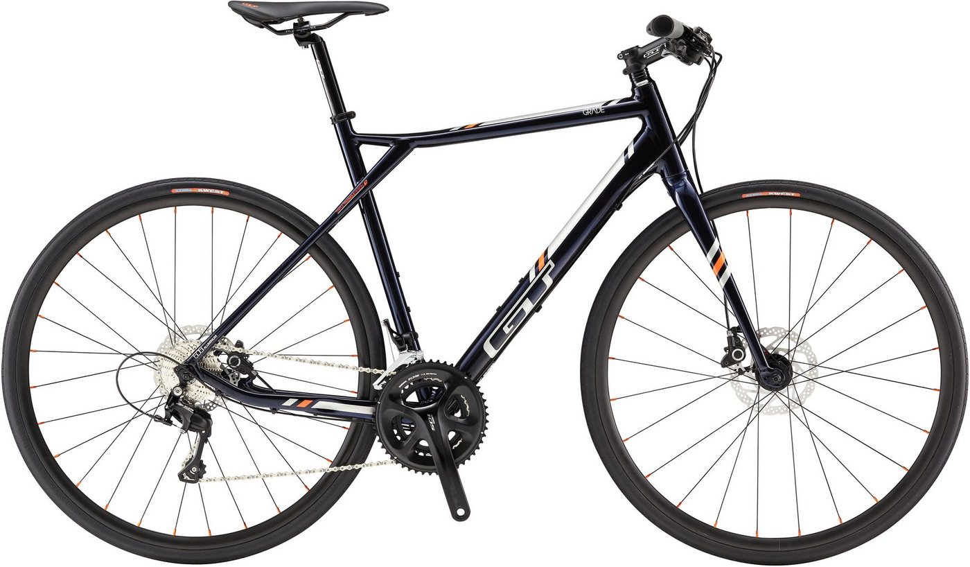 GT Fitnessbike, 28 Zoll, 20 Gang Shimano Kettenschaltung, blau, Herren, »Grade Flatbar Expert«