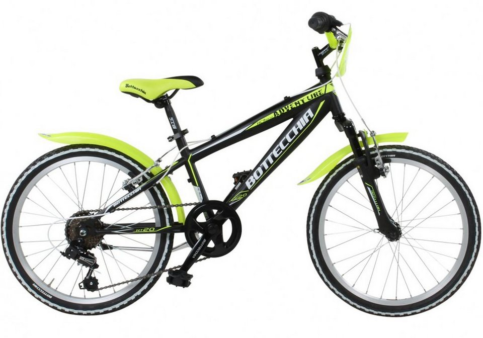 Bottechia Kinderrad, 20 Zoll, 6 Gang Shimano Kettenschaltung, schwarz/gelb, »C030« in schwarz/gelb