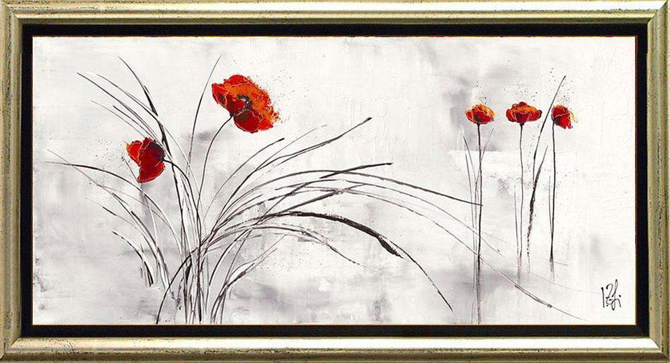 Home affaire, Schattenfugenbild, »Traumblühend V«, 105/55 cm in grau/rot